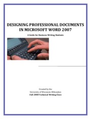 DesigningProfessionalDocuments_MicrosoftWord_Manual