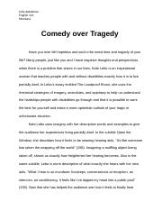 Comedy over Tragedy FULL ESSAY