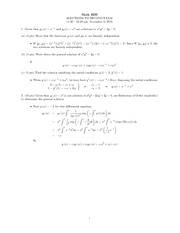 Midterm Exam 2 Solution Fall 2010 on Ordinary Differential Equations