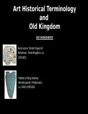01.13 - Art Historical Terms and Old Kingdom