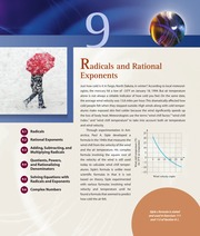 Chapter 9 Radicals and Rational Exponents