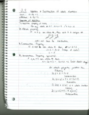 MATH 208 Section 2.3 Notes