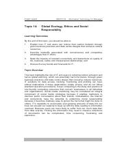 20140828095642_Topic 14 Global Ecology, Ethics and Social Responsibility