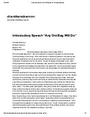 "Introductory Speech ""Any Old Bag Will Do"" _ chamikamckennon.pdf"