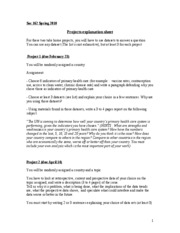 Soc 162 Projects explanation sheet0
