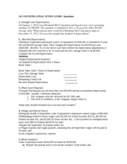 ACCOUNTING FINAL STUDY GUIDE- questions