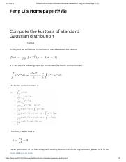 Compute the kurtosis of standard Gaussian distribution  SOLUCÃO.pdf