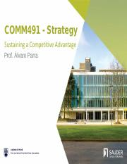 AP - L11 - Sustaining a Competitive Advantage