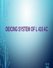 DEICING SYSTEM OF L 410 AC