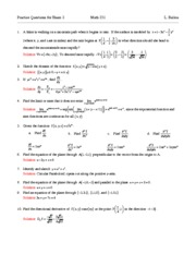 Practice Questions for Exam 2 Solutions