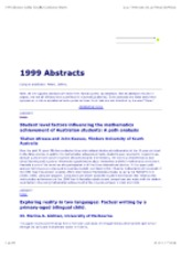 1999 Abstracts