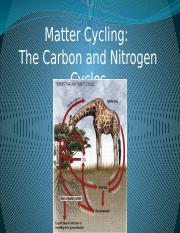 Lecture 22-23 Matter cycling for bb