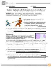 Question How does polarity affect the forces between ...