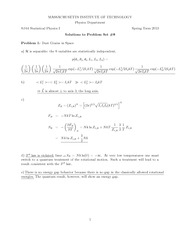 Physics 8.044 Pset 8 Solutions