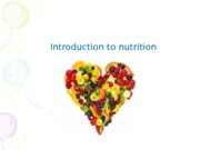 1. Introduction to Nutrition