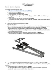 Recognizing Equipment and Exercises Assignment