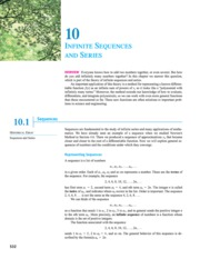 10 Infinte Sequences and Series, pp. 532-609