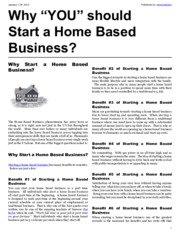 ebook why you should start a home based business