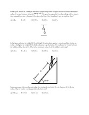 PHY2053 Physics 1, Test 2 Practice Problems