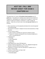Review Sheet for Test 2