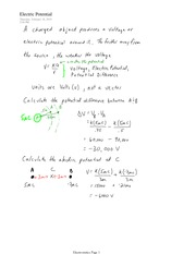 PHYS 12 Electric Potential Notes