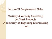 lecture 21b on Synoptic Meteorology