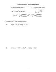 Electrochemistry Practice Problems