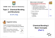 3. Chemical Bondings and Structures