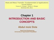 Chapter 1 - Introduction and basic concepts