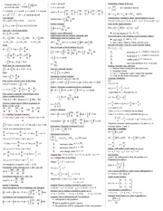 Math 192 Cheat Sheet