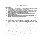 UNIT FOUR Text Questions