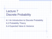 Lecture 7 Discrete Probability for TEACHING