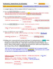 AP Summer - Stoichiometry Review - ANSWER KEY - 2013.docx