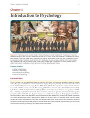 Psychology OpenStax Chapter 1 Introduction to Psychology