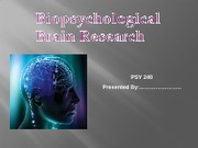 PSY 240 Week 3 Checkpoint, Brain Studies main one