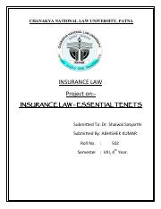 INSURANCE LAW - ESSENTIAL TENETS