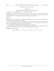 Quiz 4 Solution on Financial Mathematics for Actuaries Spring 2015