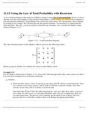 Using the Law of Total Probability with Recursion