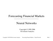 Forecasting 2001- Neural Networks