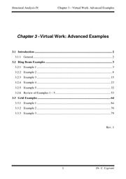 3 - Virtual Work - Advanced Examples