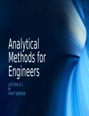 Lecture 1 - Analytical Methods for Engineers.odp