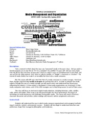 Mediamanagement_Syllabus