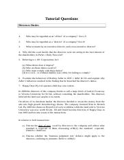 TUTORIAL questions part 2 2013