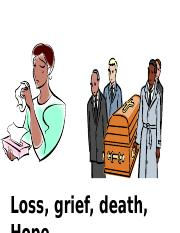 loss, grief, hope student