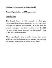 Module 8 Chapter 10 Prison Organization and Management.pdf