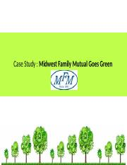 Midwest Family Fund Goes Green