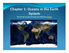 Ch.1 Ocean in the Earth System