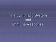 The Lymphatic System Sp 2010