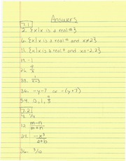 Math 96 In Class Group Work Problem Answers