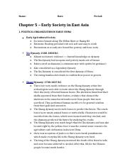 Chapter 5 Homework Notes